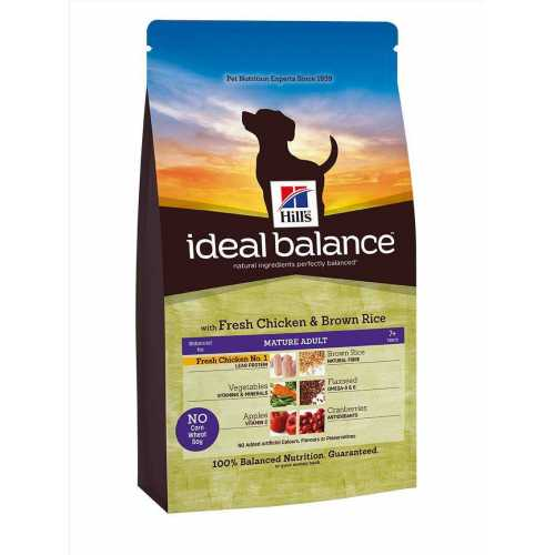 HILL'S IDEAL BALANCE MATURE ADULTO CON POLLO FRESCO Y ARROZ INTEGRAL 12 KG