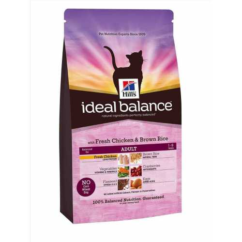 HILL'S IDEAL BALANCE FELINE ADULT CON POLLO FRESCO Y ARROZ INTEGRAL 2 KG