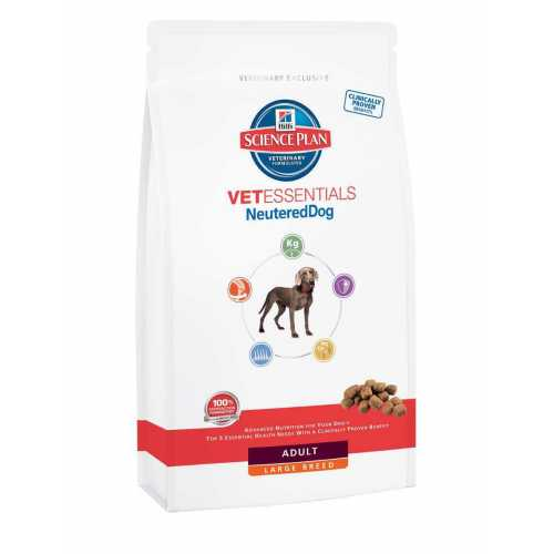 SCIENCE PLAN VETESSENTIALS NEUTERED DOG  RAZAS GRANDES 12 KG