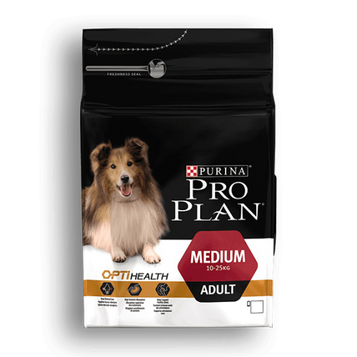 PURINA PRO PLAN PERROS MEDIANOS ADULTOS CON OPTIHEALTH 3 KG