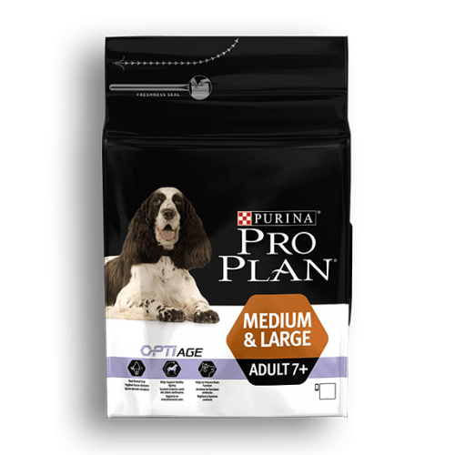 PURINA PRO PLAN PERROS MEDIANOS Y GRANDES ADULTOS +7 CON OPTIAGE 3 KG
