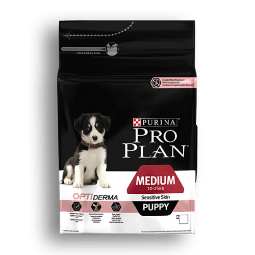 PURINA PRO PLAN CACHORROS MEDIANOS PIEL SENSIBLE CON OPTIDERMA 12 KG