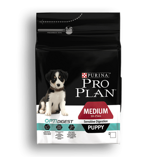 PURINA PRO PLAN CACHORROS MEDIANOS ESTÓMAGO SENSIBLE CON OPTIDIGEST 12 KG