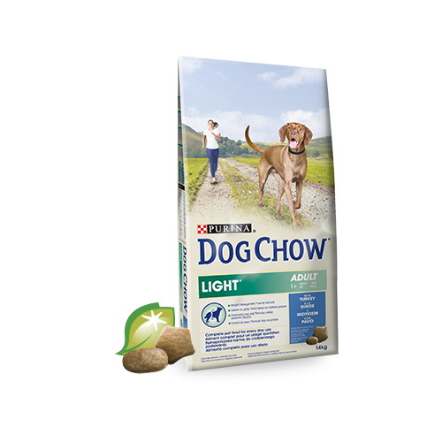 DOG CHOW PERROS LIGHT CON PAVO 14 KG
