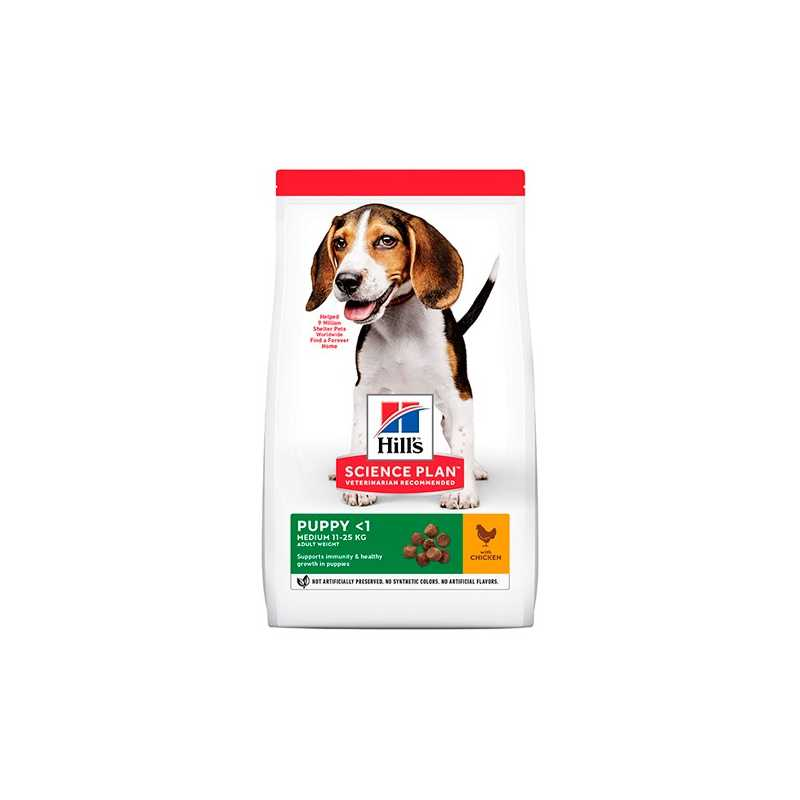 HILLS SP CANINE PUPPY MEDIUM POLLO 14 KG