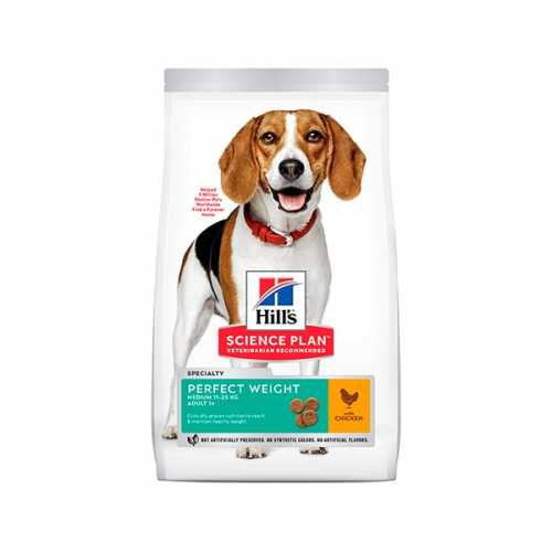 HILL'S SP CANINE ADULTO PERFECT WEIGHT MEDIUM POLLO 12 KG