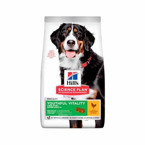 HILL'S SP CANINE SENIOR 6+ YOUTHFUL VITALITY RAZAS GRANDES POLLO 14 KG