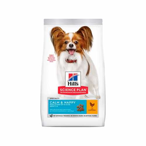 HILL'S SP CANINE ADULT SMALL & MINI CALM & HAPPY POLLO 1,5KG