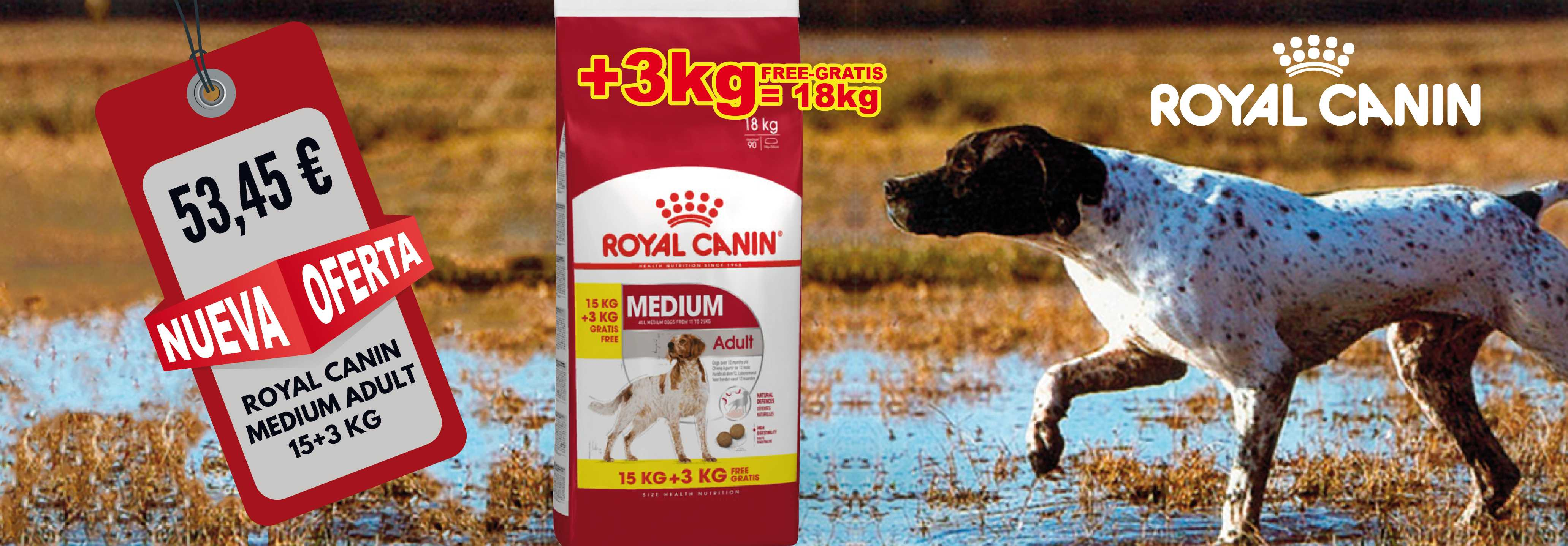 MEDIUM ADULTO 15+3 KG ROYAL CANIN
